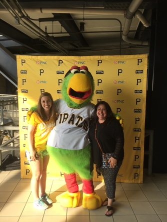 Pirates game with my mother-in-law.